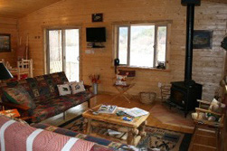 Elk Vacation Cabin Living Room