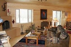 Trout Vacation Cabin Living Room