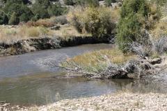 Fishing hole half way river