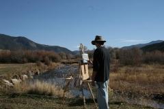 Randy painting